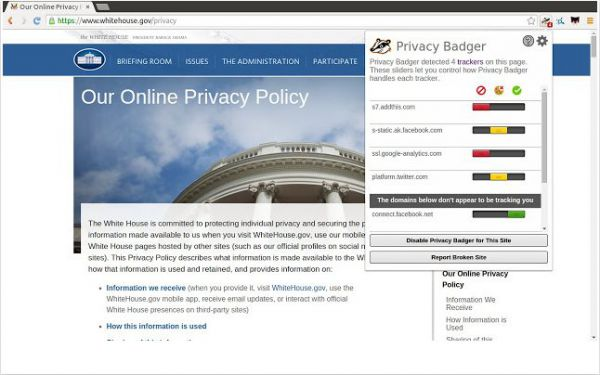 Vorschau Privacy Badger für Chrome - Bild 1