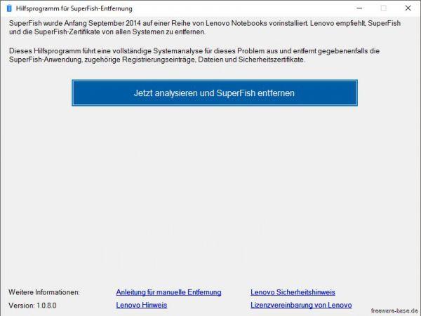 Vorschau Lenovo Superfish Automatic Removal Tool - Bild 1
