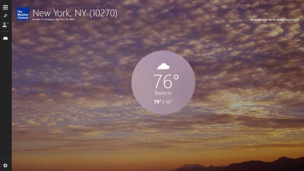 Vorschau The Weather Channel fuer Windows 10 - Bild 1