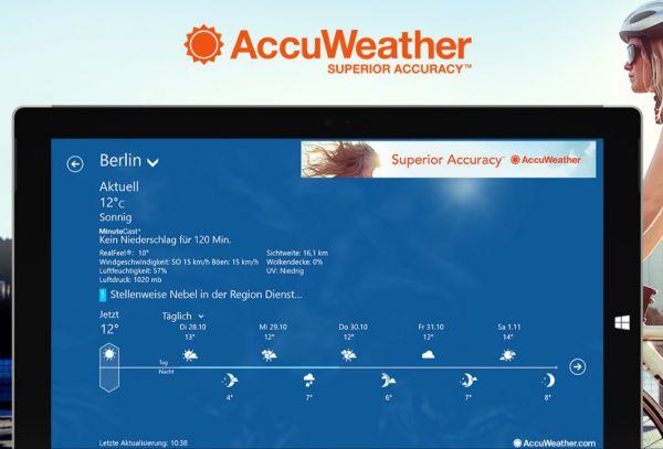 Vorschau AccuWeather für Windows 8 und 10 - Bild 1