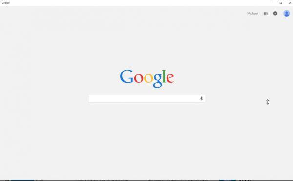 Vorschau Google Search fuer Windows 8 und 10 - Bild 1