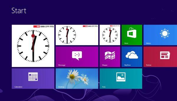 Vorschau SBB Uhr fuer Windows 8 und 10 - Bild 1
