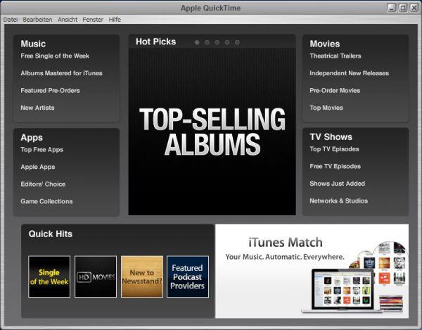 Vorschau Apple QuickTime fuer Win Vista bis Win 10 - Bild 1