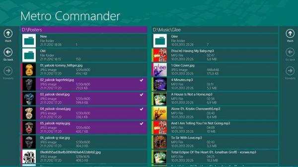 Vorschau Metro Commander fuer Windows 8 und 10 - Bild 1
