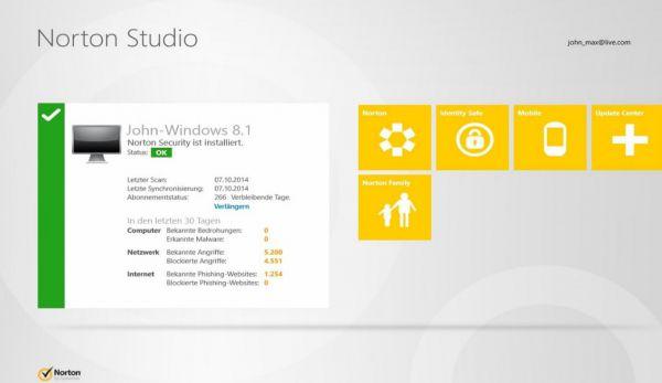 Vorschau Norton Studio fuer Windows 8 und 10 - Bild 1