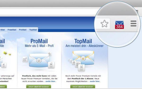 Vorschau GMX MailCheck fuer Chrome - Bild 1