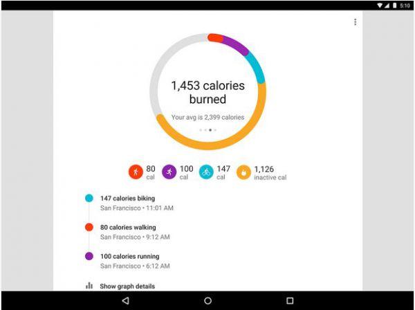 Vorschau Google Fit fuer Android - Bild 1
