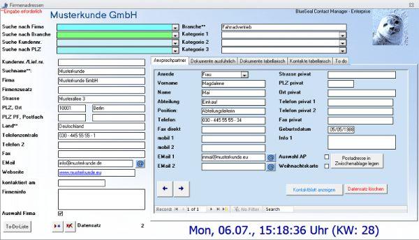 Vorschau Blueseal Contact Manager Enterprise - Bild 1