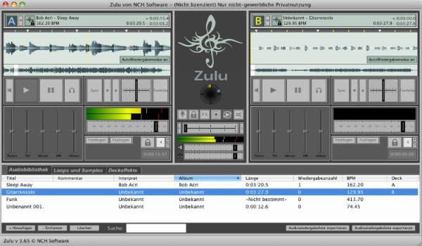 Vorschau Zulu Mac DJ-Software - Bild 1