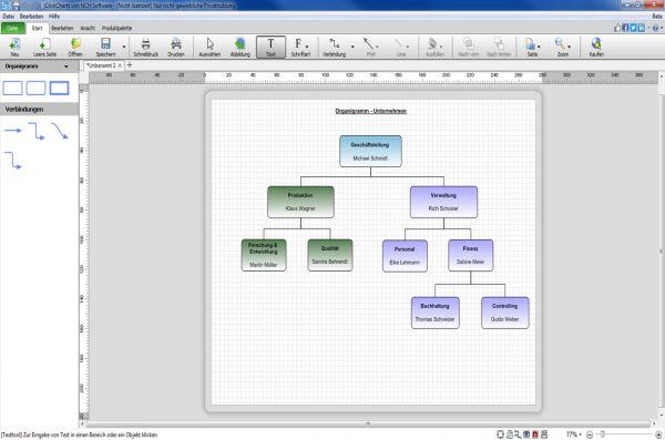 Vorschau ClickCharts Flussdiagrammsoftware - Bild 1