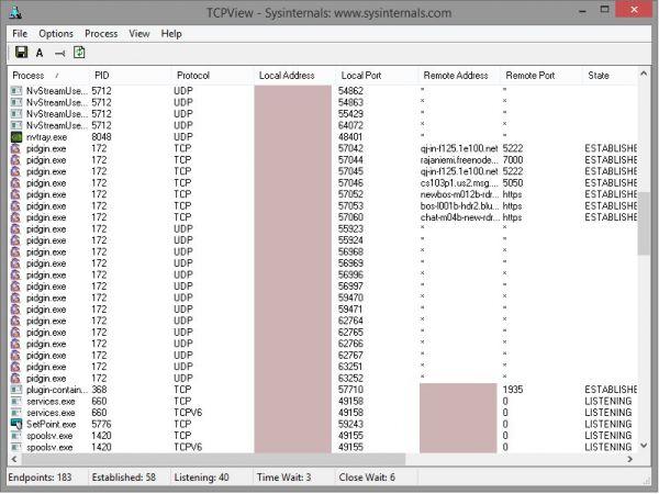 Vorschau TCPView Portable - Bild 1