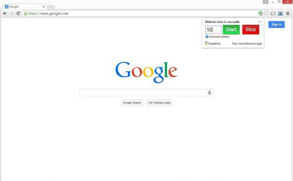 Vorschau Easy Auto Refresh für Chrome - Bild 1