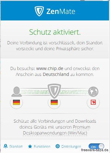 Vorschau ZenMate Security und Privacy VPN für Firefox - Bild 1