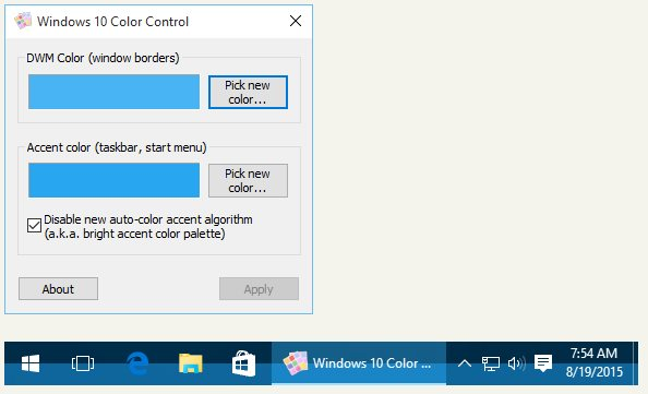 Vorschau Windows 10 Color Control - Bild 1