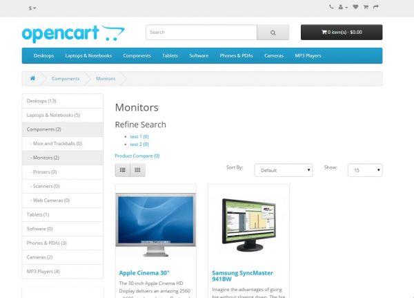 Vorschau Bitnami OpenCart - Bild 1