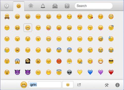 Vorschau Emoji Cheatsheet fuer Firefox - Bild 1