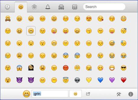 Vorschau Emoji Cheatsheet fuer Chrome - Bild 1