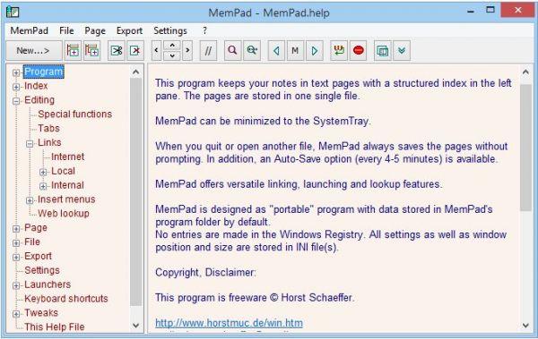 Vorschau MemPad - Bild 1