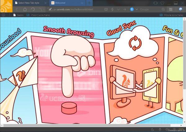 Vorschau UC Browser for PC - Bild 1