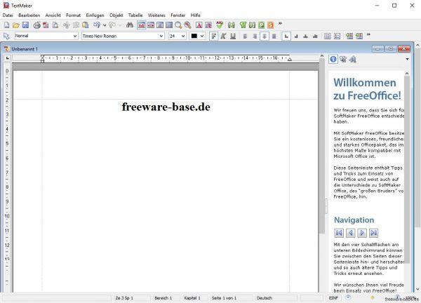 Vorschau SoftMaker FreeOffice - Bild 1