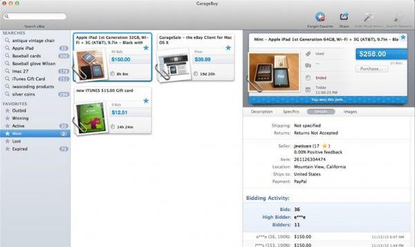 Vorschau GarageBuy für Mac - Bild 1