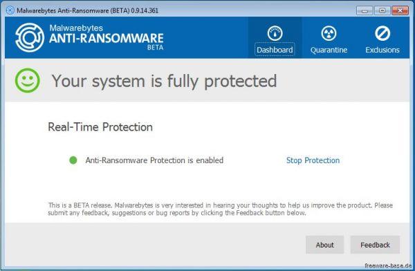 Vorschau Malwarebytes Anti-Ransomware - Bild 1