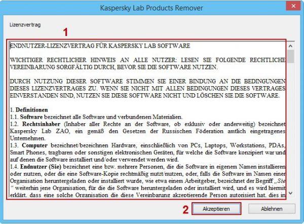 Vorschau Kaspersky Lab Products Remover - Bild 1