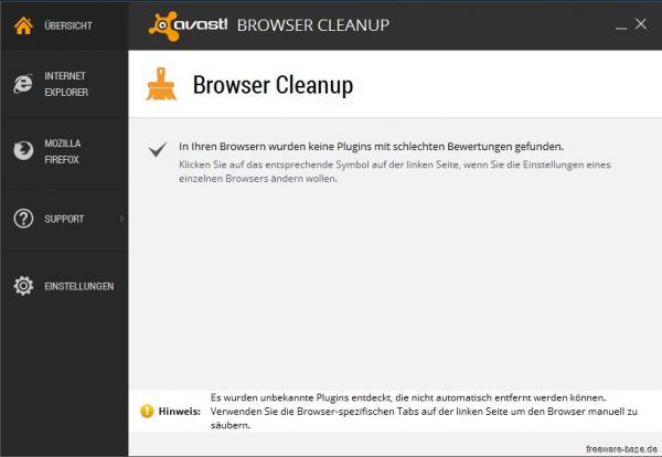 Vorschau Avast Browser Cleanup - Bild 1