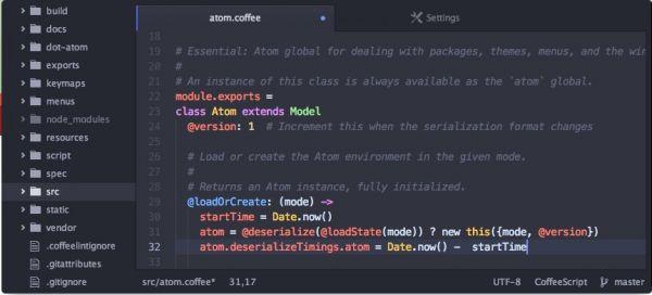 Vorschau Atom Text Editor - Bild 1