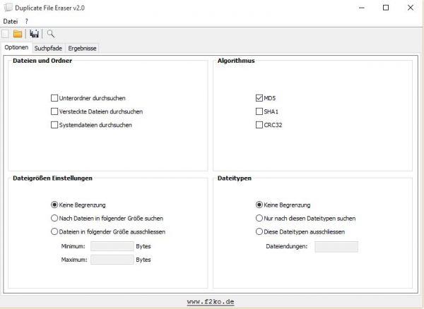 Vorschau Duplicate File Eraser - Bild 1