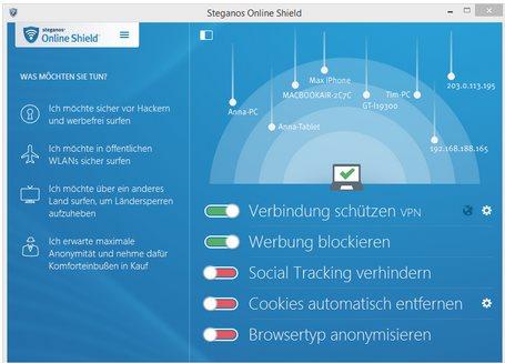 Vorschau Steganos Online Shield VPN - Bild 1