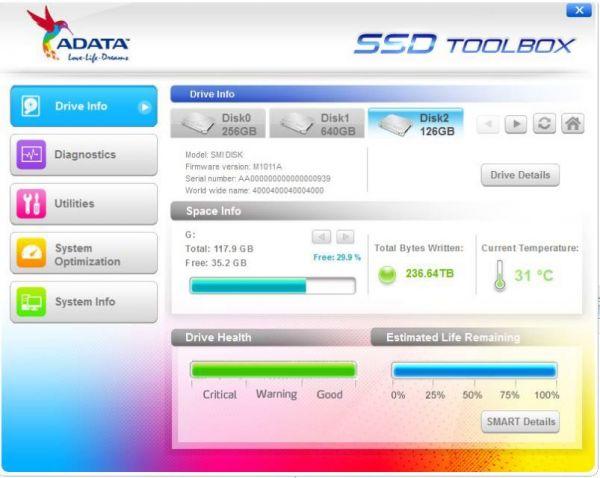 Vorschau Adata SSD ToolBox - Bild 1
