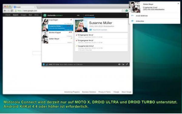 Vorschau Motorola Connect für Chrome - Bild 1