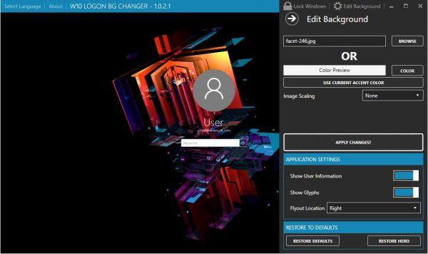 Vorschau Windows 10 Login Background Changer - Bild 1