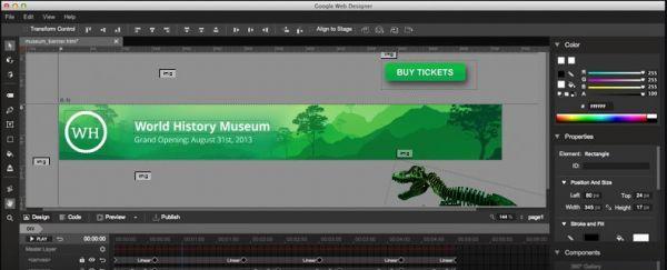 Vorschau Google Web Designer für Mac - Bild 1