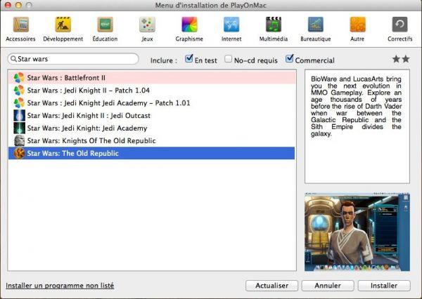 Vorschau PlayOnMac for MAC - Bild 1