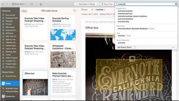 Vorschau Evernote für Mac - Bild 1