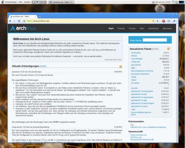 Vorschau Arch Linux - Profi System - Bild 1