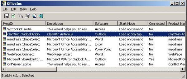 Vorschau OfficeIns - Listet Office Add-Ins auf - Bild 1