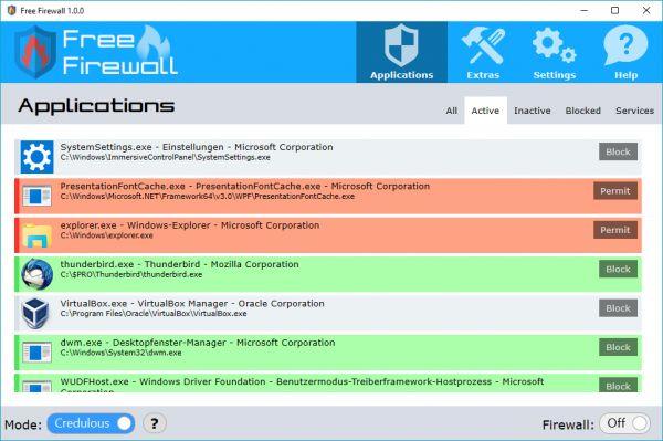 Vorschau Free Firewall - Bild 1