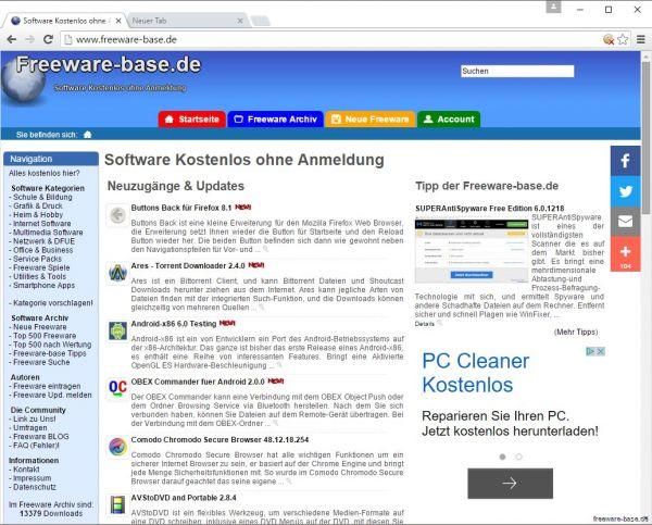 Vorschau Iridium Browser - Bild 1