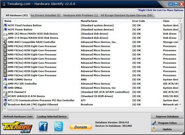 Vorschau Tweaking.com - Hardware Identify - Bild 1