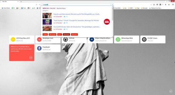 Vorschau Cliqz für Firefox - Bild 1
