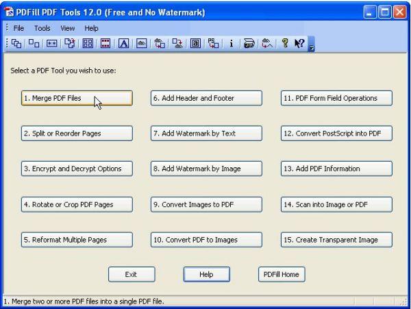 Vorschau PDFill PDF Tools - Bild 1