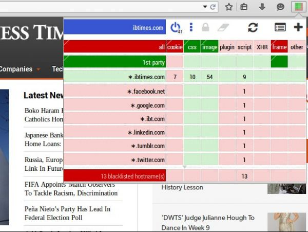 Vorschau uMatrix für Firefox - Bild 1