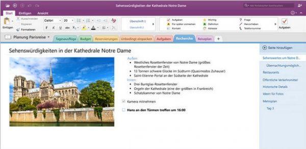 Vorschau Microsoft OneNote für Mac - Bild 1