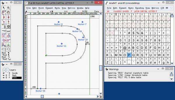 Vorschau FontForge Portable - Bild 1
