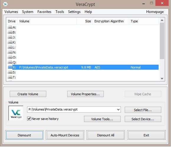 Vorschau VeraCrypt Portable - Bild 1