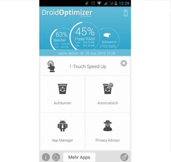 Vorschau Ashampoo Droid Optimizer für Android - Bild 1