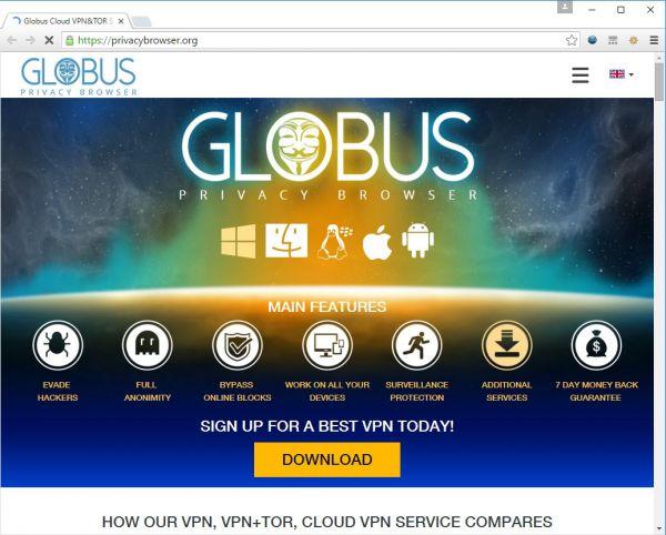 Vorschau Globus VPN Browser - Bild 1